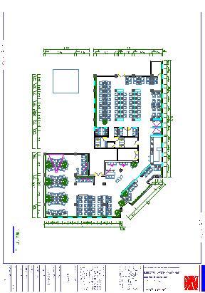 200平米餐厅平面图_平面设计图图片