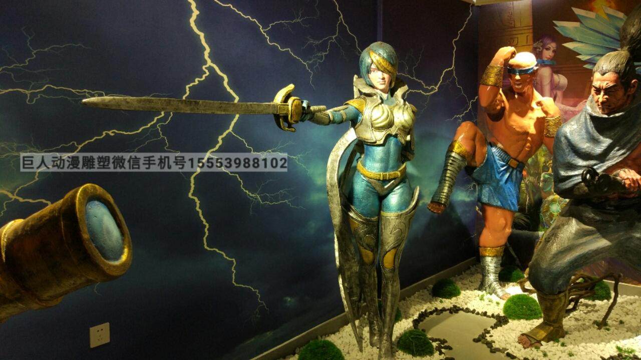 制作英雄联盟雕塑尺寸大小可定做