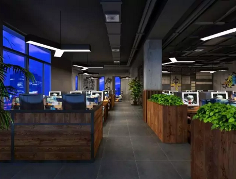 现代化时尚loft风格网咖装修案例图