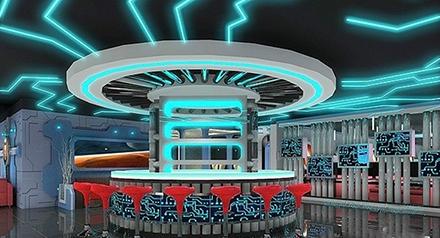 除了外觀上的設計,網吧吧臺的設計還要考慮到